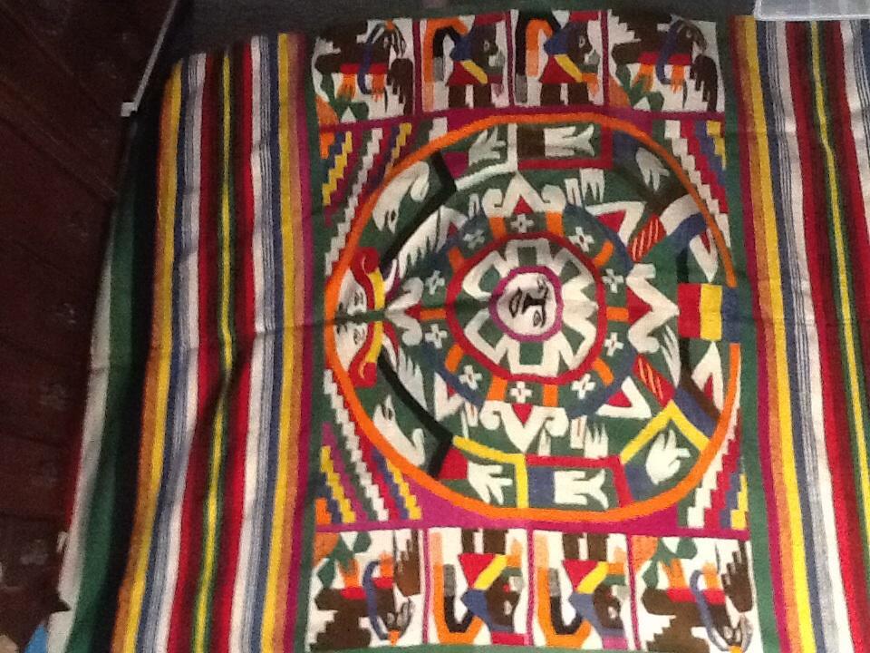 Indian Native American Blanket Strange Figures Like