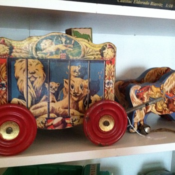 So sweet! My circus cart with ponies &amp; gong bells