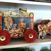 So sweet! My circus cart with ponies & gong bells