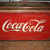 Antique coca cola ice chest