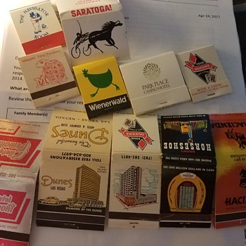 Vintage match books assorted: Vegas,Nyc,Atlantic city,Martha's vinyard