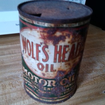 wolf's head motor oil dump find - Petroliana