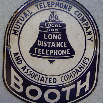 Mutual Telephone Company and Associated Companies Booth Sign