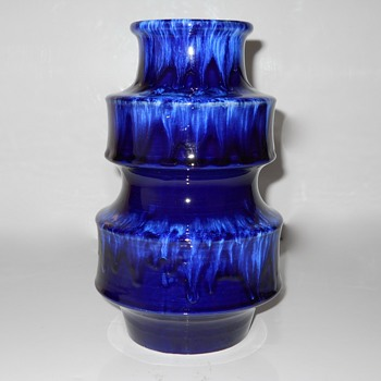 Cobalt Blue Western Germany #267, Circa 1950-70 - Art Pottery