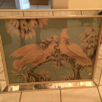 Large mirrored Turner Bird Print - Art Deco