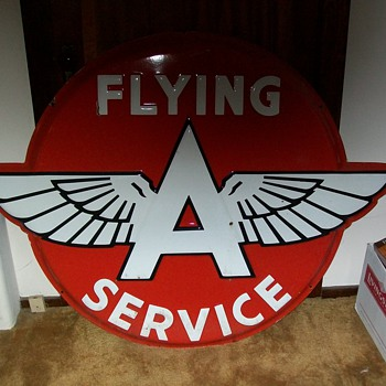 vintage flying A sign