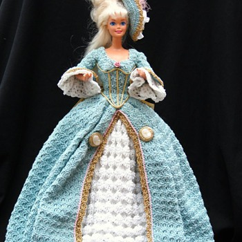 Hand, Thread Crocheted Victorian Barbie Costume - Dolls
