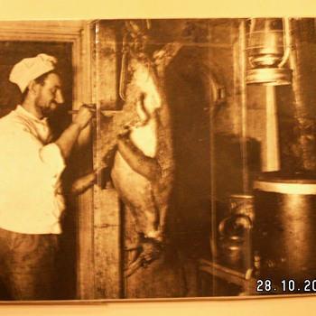 Antique Antarctic Expedition Chef Photo