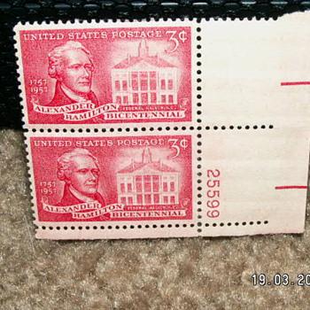 1957 Alexander Hamilton Bicentennial 3¢ Stamps - Stamps