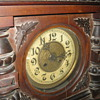 VERY OLD WOODEN CLOCK(WALL) IN THE FAMILLY FOR 100 YEARS MINIMUM ANY ONE KNOWS ANYTHING?