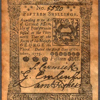 Colonial Currency - Novelty Note (Pennsylvannia)