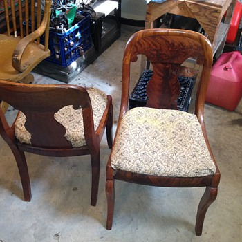 A pair of Vintage Wood Chairs.