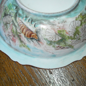 Art nouveau hand paintedOscar and Edgar Gutherz bowl