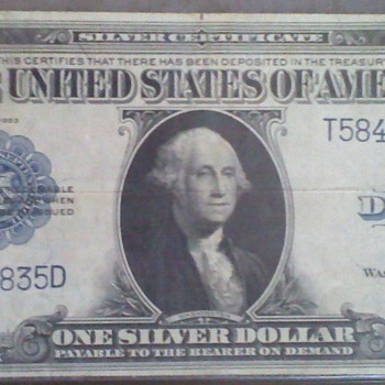1923 Silver Certificate $1 - US Paper Money