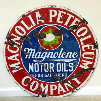 Magnolia/Magnolene Motor Oil Sign