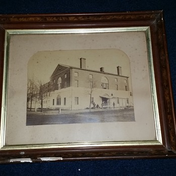 Original G D Wakely Photograph of Civil War Old Capitol Prison