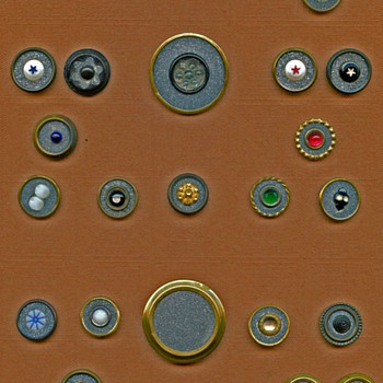 Galena in metal antique buttons