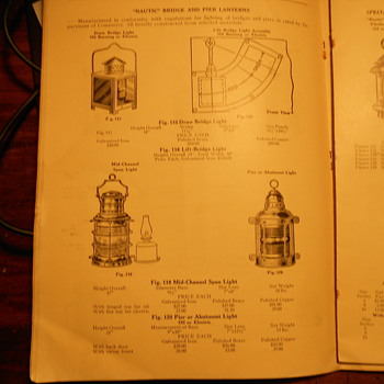 Nautical Lights catalogue from 1939 - Lamps