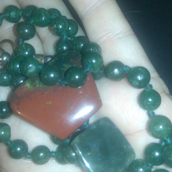 Inky jadeite necklace?