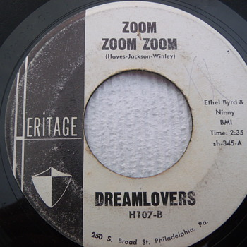 "Philly DooWop Promo 45 ""Zoom Zoom Zoom"" by Dreamlovers"