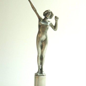 nice metallic art deco figure probably LORENZL