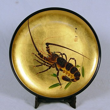 Lacquer plate - Asian