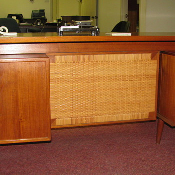 Teak Secretary Desk & Small Credenza - Office