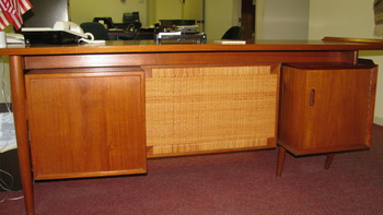 Teak Secretary Desk Small Credenza Collectors Weekly