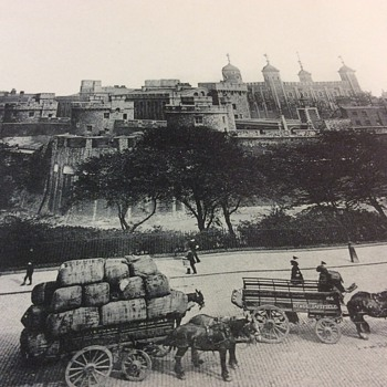 Antique photo of Tower of London