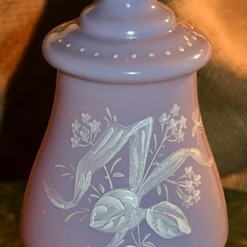 Lavendar Opaline Bottle from Victorian Dresser Set