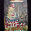 Painting of Circus Clown & Smokin' Pit ~ Playing Poker by George Crionas