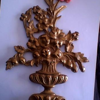 flowers in vase metal cast