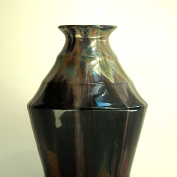 french art deco pottery vase by LEON ELCHINGER