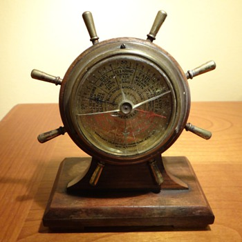 1930 ABERCROMBIE &amp; FITCH CO. SELSI CO. SHIPS WHEEL BAROMETER -ENGLAND - Tools and Hardware