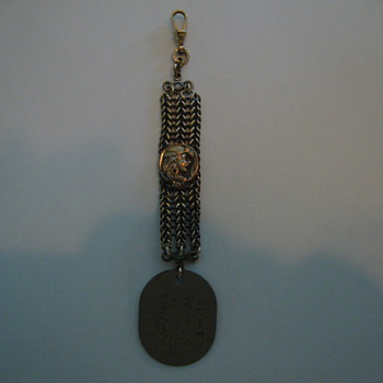 WWI Dogtag watch fob with attached profile