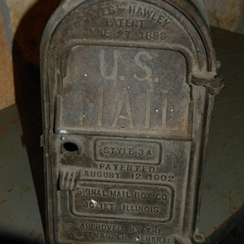 Antique Cast Iron Mail Box - Office