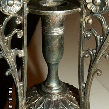 (2) Victorian Era James W. Tufts Boston Quadruple Plate Bud Vase ~Aesthetic Movement~ 1870-1902 - Sterling Silver