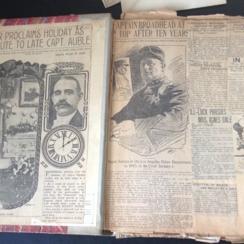 Early 20th Century Police Scrapbook Made By LAPD Officer