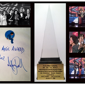 "MICHAEL JACKSON'S AMERICAN MUSIC AWARD FOR ""WE ARE THE WORLD"" - Music"