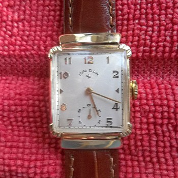 1950 Lord Elgin 21 Jewels 14K Gold Filled Case - Wristwatches