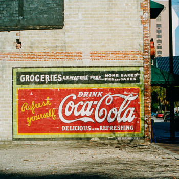 Original, unrestored Coca-Cola painted Sign In Orlando, Florida - Coca-Cola