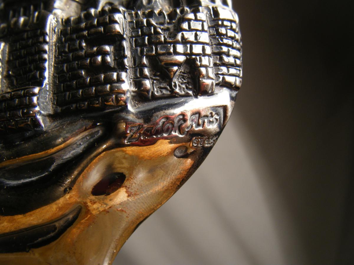 Zadok Arts Israel Sterling Silver Marked 925 Sculpture