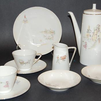 Tirschenreuth Z & Co. Midcentury coffee pot Set