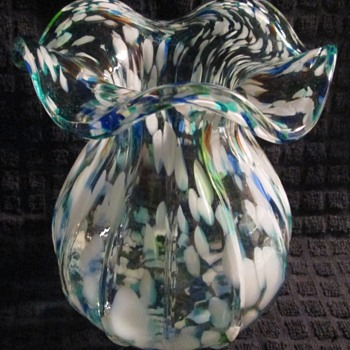 Colored glass vase - Art Glass