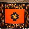 Very heavy Mexican Blanket - Geometric and Orange