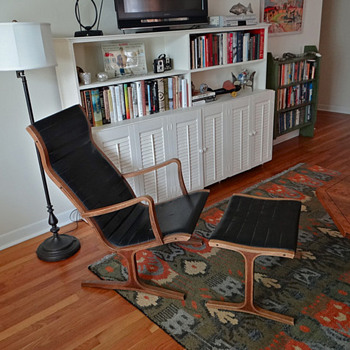 Favorite find of the year!  Kosuga chair & ottoman - Furniture