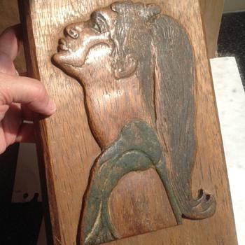 Vintage carved plaque. - Folk Art
