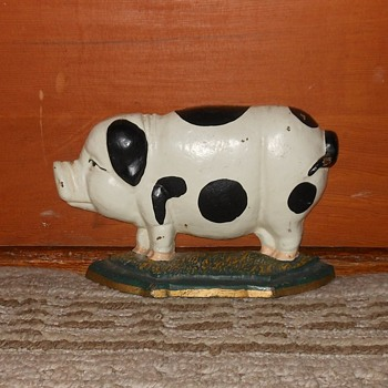 Cast Iron Pig Door Stop - Animals