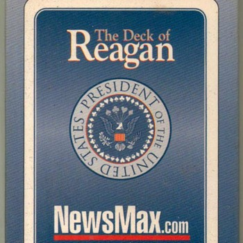 """Ronald Reagan"" Playing Cards"