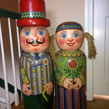 My Big Wooden Ukranian Folk - Dolls